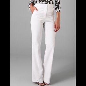Diane von Furstenberg White Simca High Rise Pants